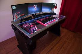 Computer Desk Built In I Want Thaaaat 30 Photos Computer Build Desks And Pc