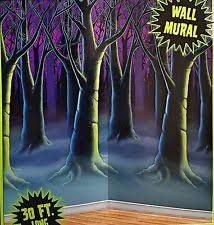 30 foot enchanted forest wall mural halloween scene setter photo