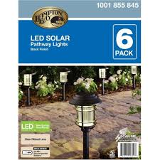 Brightest Led Solar Path Lights by Amazon Com Hampton Bay Nxt 74052 Black Solar Led Pathway Outdoor