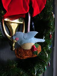 felt bird nest ornament imagine our life