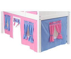 Bunk Bed Curtains Pink Light Blue  Purple Bed Accessories - Pink bunk bed