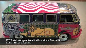 volkswagen bus art sun star 1 12 scale 1969 volkswagen kombi woodstock diecast model