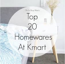 20 homewares at kmart
