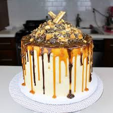 chocolate caramel snickers cake i chelsweets youtube