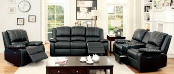 amazing black leather recliner sofa set of apartement model living