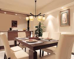 lighting over dining table two tone white and brown finish