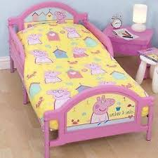 Peppa Pig Toddler Bed Set Peppa Pig Duvet Ebay