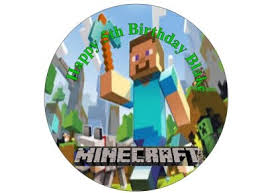 minecraft edible cake topper minecraft edible 7 cake topper sugar sheet for sale in dalkey