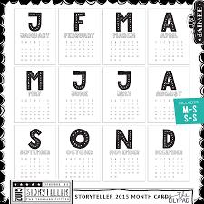 storyteller 2015 month 3x4 pocket calendar cards by just jaimee