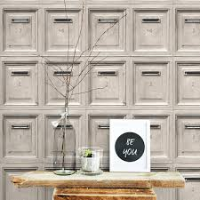 Grey Feature Wall As Creation Vintage Mail Box Wallpaper Feature Wall Grey Blue Red