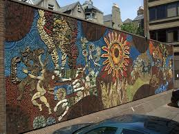 panoramio photo of desmond kinney s 1974 mosaic mural the desmond kinney s 1974 mosaic mural the setanta or tain wall fantasy wall