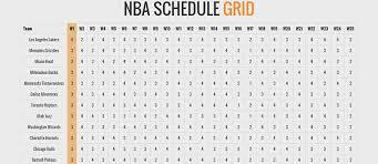 basketball schedule grid for the 2014 2015 nba season