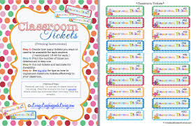printable instructions classroom classroom management free classroomticket printables learning