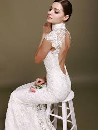 robe de mari e magnifique robe de mariée dos nu semi nu et en dentelle 70 designs