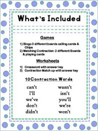 teaching contractions by seed of knowledge teachers pay teachers