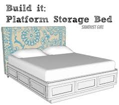 remarkable platform bed with storage plans with ana white full