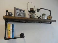 Black Pipe Bookshelf Industrielle Tuyau Noir Papier Toilette Support Par Mobeedesigns
