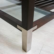 Pierre Vandel Paris Coffee Table Coffee Table In Wood Glass And Metal Pierre Vandel 1970s