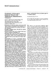 System Engineering Resume Prophylaxis Of Plasmodium Falciparumplasmodium