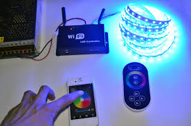 how to link led light strips ios android tablet control wifi rgb wireless controller connection