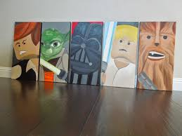 Star Wars Bedroom by Window Paintings For Holidays And Special Events Lego Star Wars