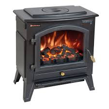 comfort smart vermont black electric fireplace stove with remote