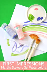 martha stewart crafts gel watercolors impressions mad in