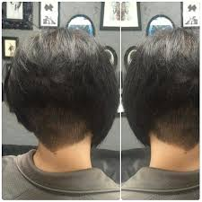 show pictures of a haircut called a stacked bob undercut shaved stacked inverted bob haircut http