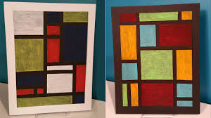 Modern Art by Create Easy Modern Oil Pastel Art Inspired By Piet Mondrian