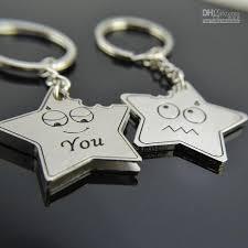star key rings images Little cartoon star lover couple keychain korea cute key chain jpg