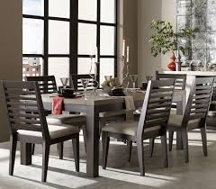 legacy classic helix 7 piece dining set with slat back side chairs