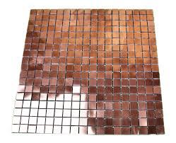 questech cast metal tile polished copper 12x12 sheet border