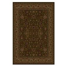 shaw accent rugs shop shaw living 46 x 64 brown palace kashan accent rug at lowes com