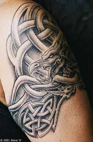 a is up in a celtic knot in this design that