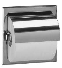Commercial Stainless Steel Toilets Bobrick 6697 Stainless Steel Recessed Toilet Tissue Dispenser With