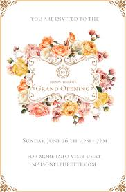 Invitation Card For Grand Opening Summer Soirée Maison Fleurette Grand Opening Santa Monica