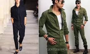 mens jumpsuit fashion what do you think of the wearing rompers romphims