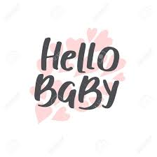 hello baby shower baby shower girl and boy vector text hello baby