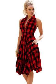 plaid abnormity t shirt dress qj5095osm 11 89 rose clubwear