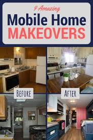 how to update mobile home kitchen cabinets before and after 9 totally amazing mobile home makeovers