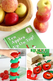apple stacking activities stem for ten apples up on top