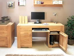 Small Oak Computer Desk Home Study Furniture Oak Computer Desk Computer Desk Oak Finish