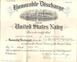 honorable discharge certificate genea musings treasure chest thursday u s navy discharge