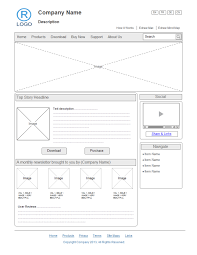 create a wireframe diagram for windows 7 user interfaces