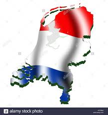 netherlands map flag outline map and flag of stock photo royalty free image