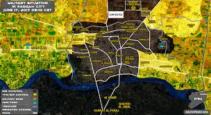 City Map Developing Momentum In Western Part Of Raqqah City Map