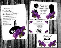 nightmare before christmas wedding invitations embellished galaxy nebula space themed wedding invitation