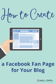 create facebook fan page how to create a facebook fan page for your blog