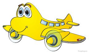yellow airplane cartoon