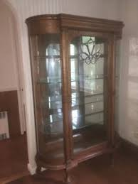 curved glass china cabinet ebay